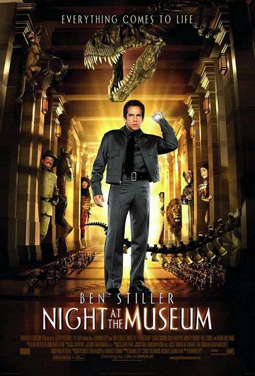 Poster Of Night at the Museum (2006) Full Movie Hindi Dubbed Free Download Watch Online At Alldownloads4u.Com