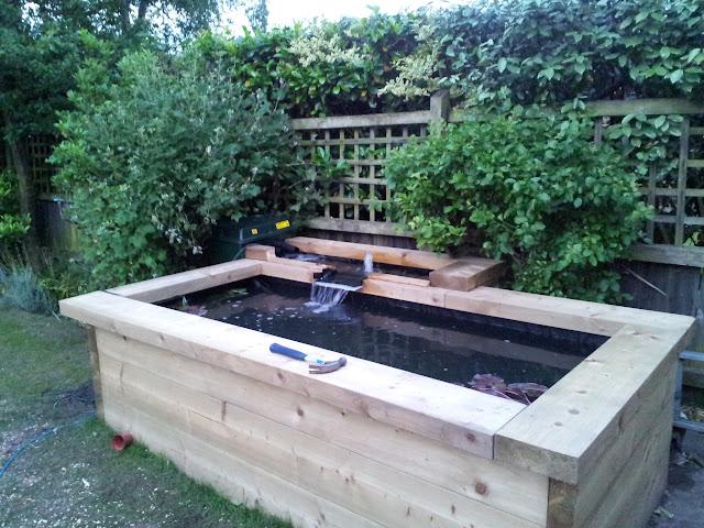 Wooden pond designs joy studio design gallery best design for Small raised pond ideas