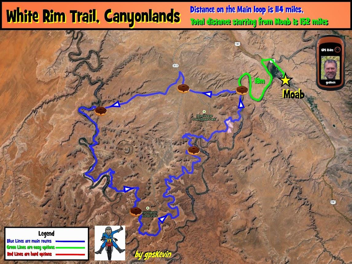 White Rim Trail gpsKevin Adventure Rides