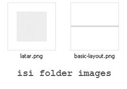 gambar latar dan basic layout