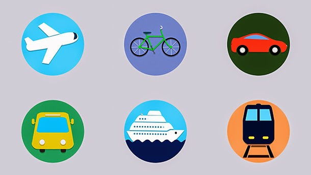 travel animated icons by d cooper videohive