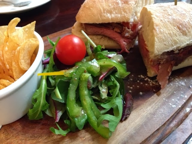 Roast Beef Ciabatta at The Oat Hill