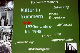 Tafel: »Kultur in Trümmern«.