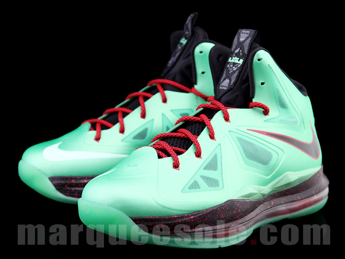 differently ba1c1 bbfc4 Nike LeBron 10 X Cutting Jade JR Jade China