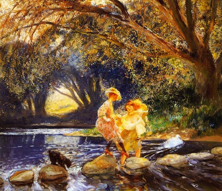 Gaston La Touche - A Difficult Crossing