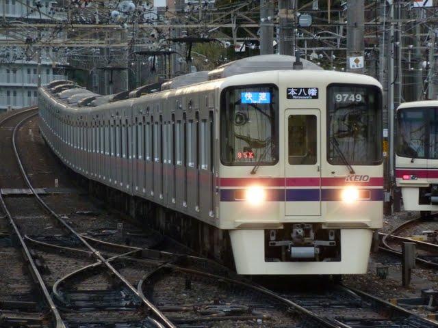 京王電鉄 快速本八幡行き 9000系(平日1本運行)