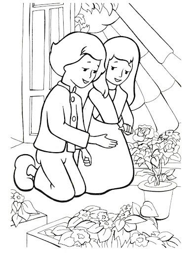 Раскраска по сказке снежная королева