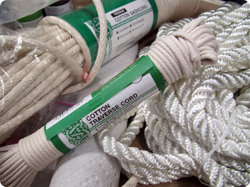 I purchased rope from the hardware store, nothing fancy. Basically any rope 1/8
