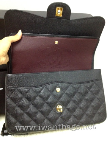 90bd7d0fe29d CHANEL Classic Quilted Jumbo in Caviar - GHW