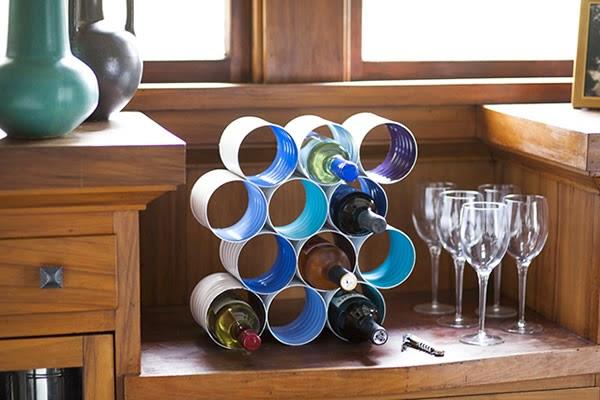 Rack de vinhos finalizado