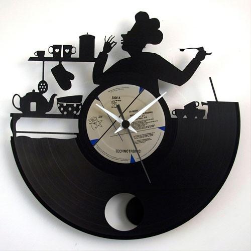 Chef con pendolo orologio da parete disco 33 giri for Essere minimalisti