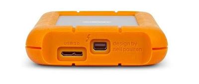 Lacie lanza una versión de su popular disco duro externo Rugged con USB 3.0 y Thunderbolt