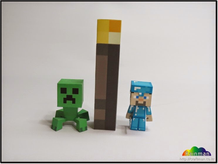 Minecraft Torch Papercraft