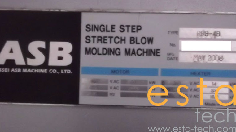 Nissei PF8-4B (2008) Stretch Blow Moulding Machine
