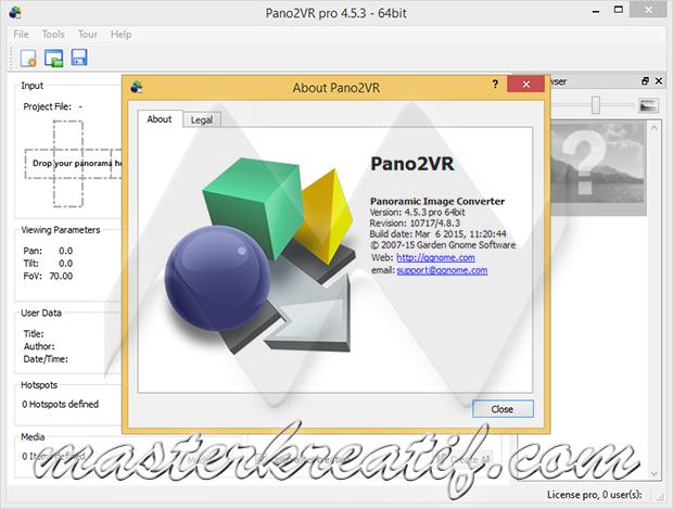 Pano2VR pro 4.5.3
