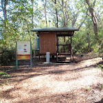Toilet and infromation at Freshwater Camping Area