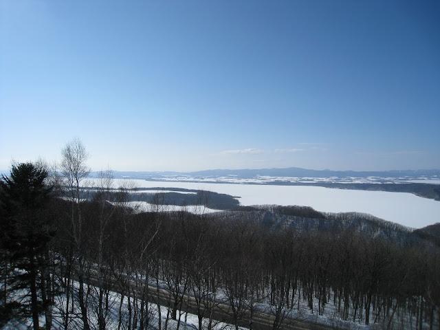 冬季結冰的網走湖