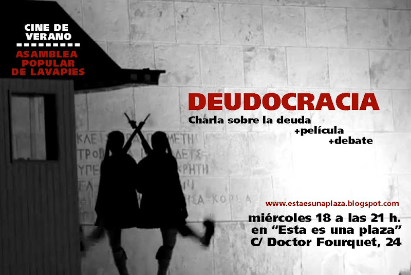 Cartel del Cineforum 18J: Deudocracia