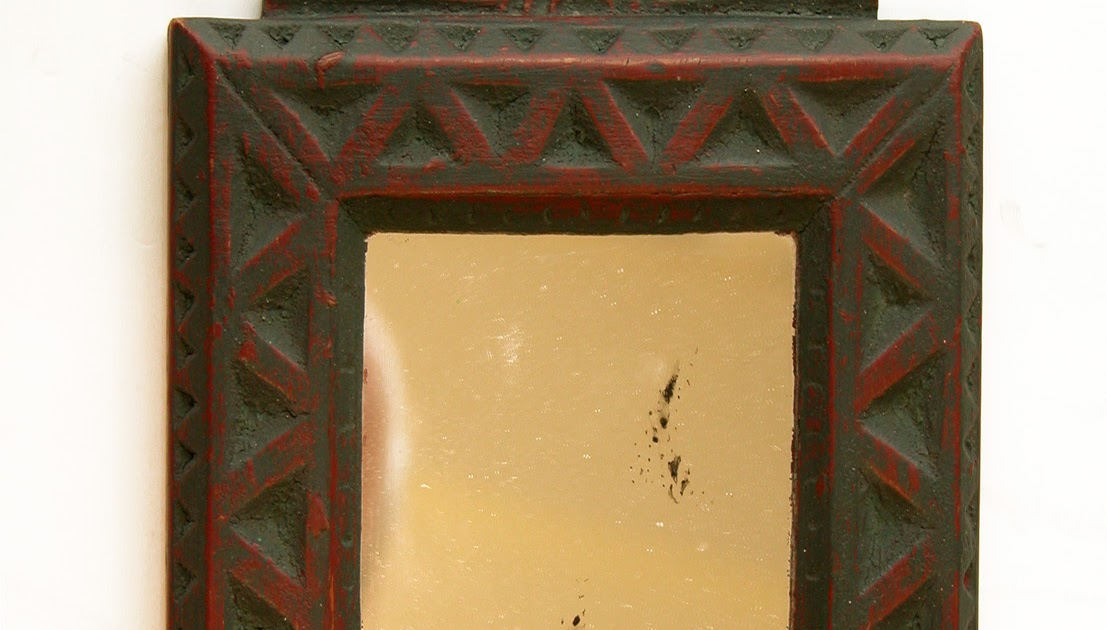 Contemporary makers david parrish chip carved mirror