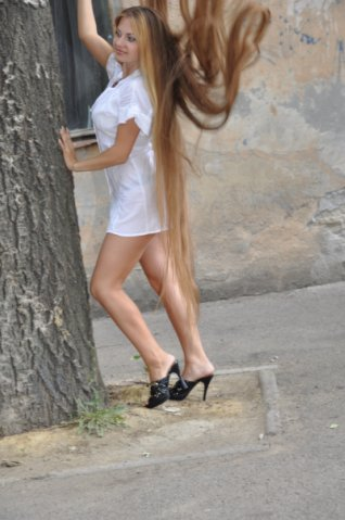 Beautiful Blond with Fantastic long hair