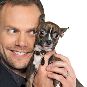 Joel McHale and Lou the Chihuahua 3