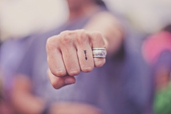 Arrow Finger Symbol Small Arrow Tattoo on Finger