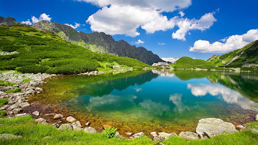 View of Great Pond in Five Ponds Valley, Tatra Mountains, Poland.jpg