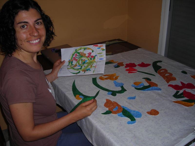 Patchwork desde la alpujarra vidriera de flores - Como hacer una vidriera ...