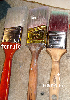 cleaning petrified paintbrushes
