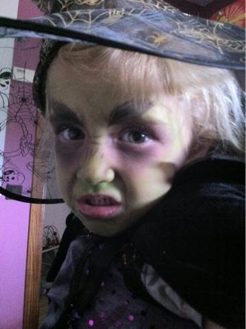 Jugando A Ser Chicas Maquillaje Bruja Infantil - Maquillaje-infantil-de-bruja