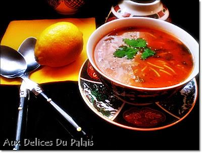 Chorba, la soupe algérienne - recette indexée dans les Entrèes