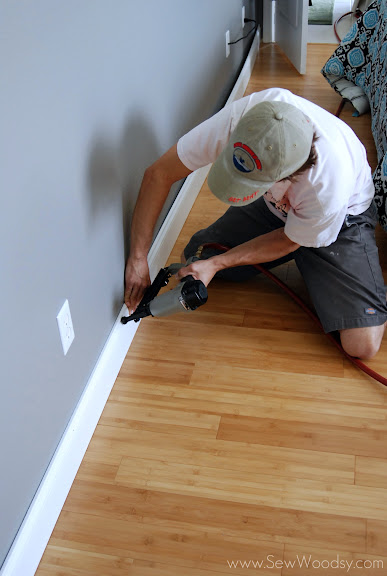 how to use a t bevel for baseboards