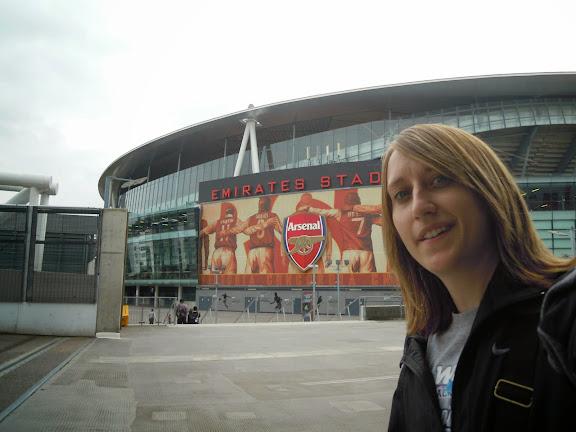 Heather Robinette at Arsenal's Emirates Stadium. #StudyAbroadBecause the world awaits you