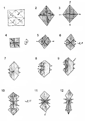 how to make a origami raccoon