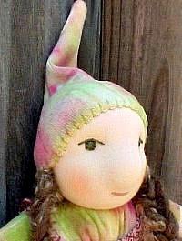 "Gnomes love Christmas-meet Zelda, a 9"" tall Waldorf  Doll"
