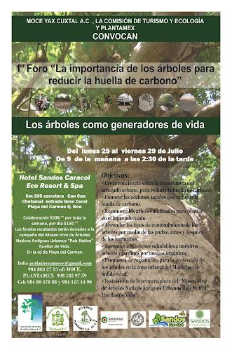 """1° Foro """"La Importancia de los Árboles para Reducir la Huella de Carbono"""","""
