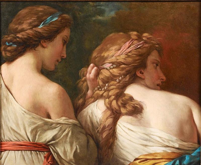 Louis-Jean-François Lagrenée - Two Nymphs