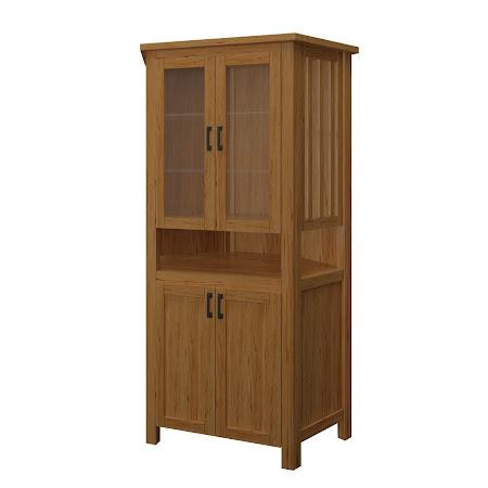 Teton Corner Cabinet in Classical Maple