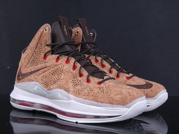 Updated Nike LeBron X Cork Release Information by Footlocker