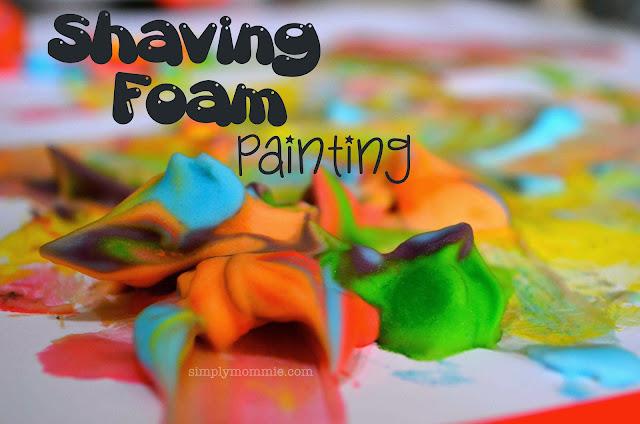 shaving foam painting
