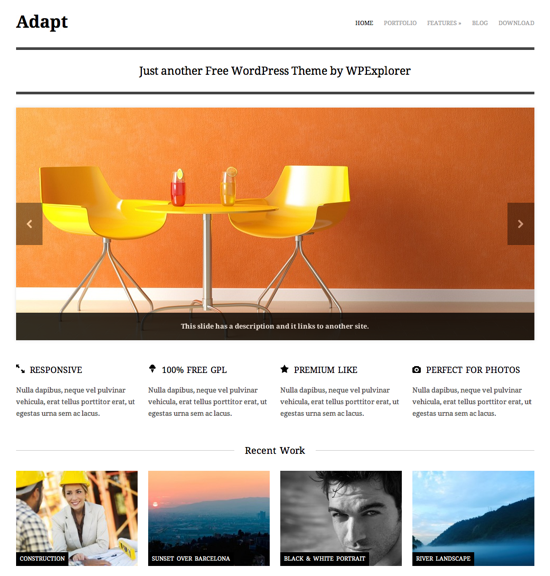 Adapt theme wordpress