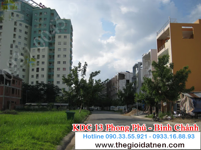 KDC 13   07 Bán gấp đất nền nhà phố KDC 13C, Bình Chánh giá 14.5 tr/m2