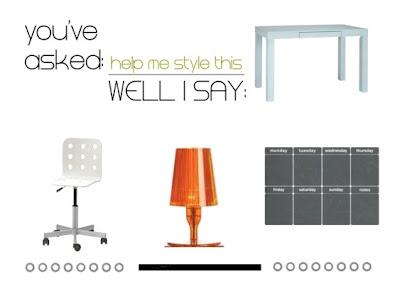 Help me style this: la semplicissima scrivania