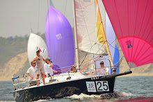 J/105 Eclipse sailing Block Island