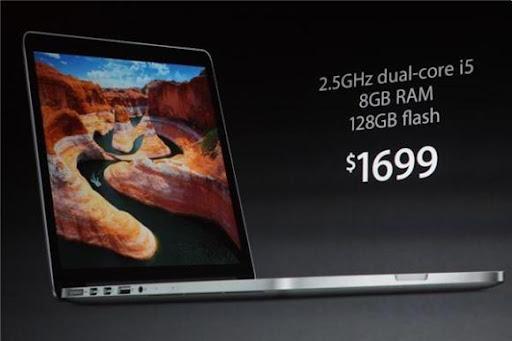 Apple 發佈新款MacBook Pro:採用Retina屏