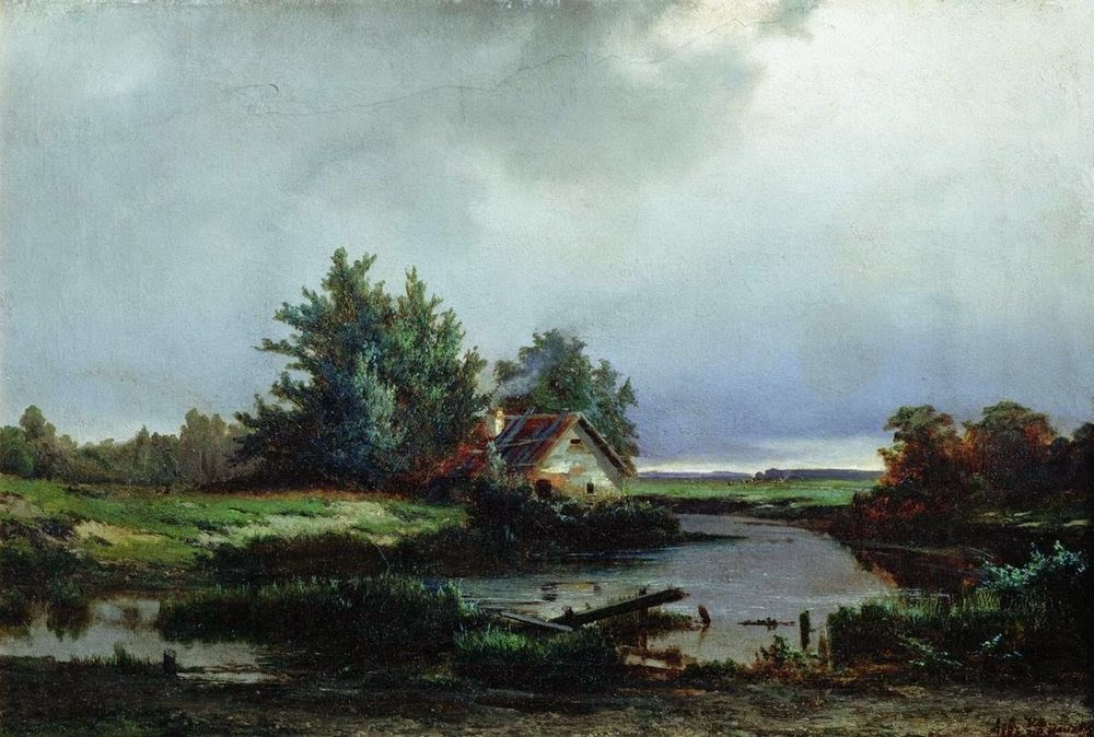 Lev Kamenev - Before thunderstorm, 1869