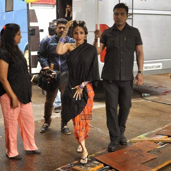 Malaika Arora Khan snapped at Mehboob Studios in Mumbai, on July 10, 2014.(Pic: Viral Bhayani)