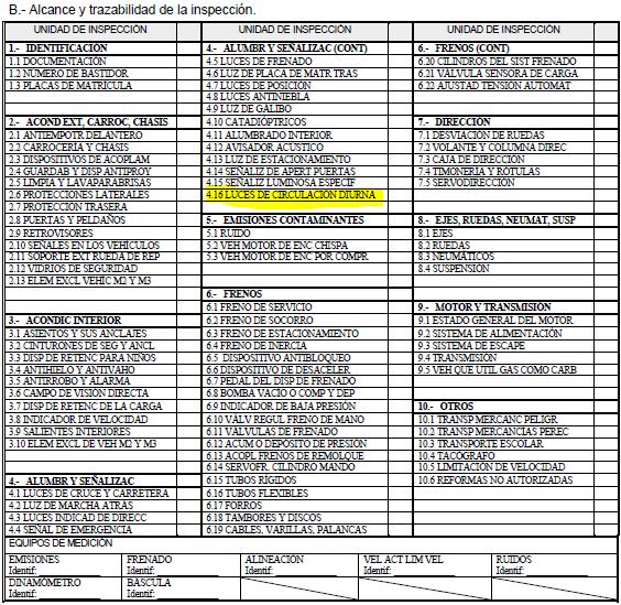 Parte 2 Modelo informe inspección técnica de vehículos con la última modificación 8 abril 2013