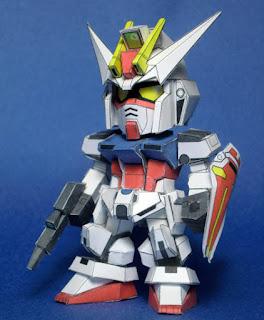 SD GATX105 Strike Gundam Papercraft