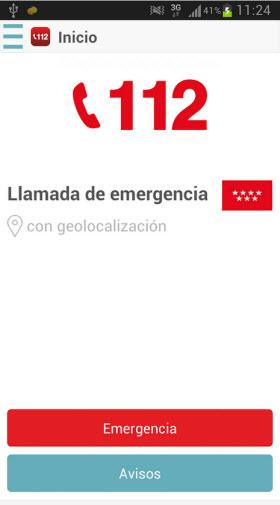Nueva aplicación para móviles del 112 Emergencias Madrid